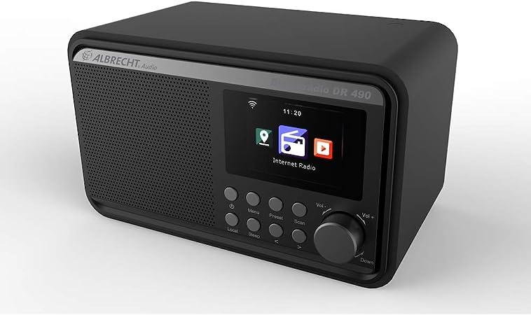 Albrecht Dr490 Hybridradio Mit Farbdisplay Internet Dab Ukw Radiosteuerung Via App Farbe Schwarz Home Cinema Tv Video