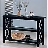 Coaster Briarcliff Casual Sofa Table with 2 Shelves, Dark Merlot