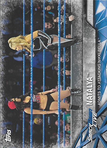 Attacking Set (2017 Topps Women's Division Matches and Moments WWE #WWE-20 Natalya Admits to attacking Nikki Bella)