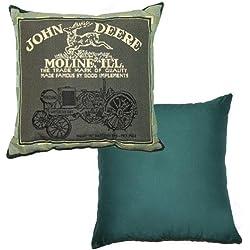 John Deere Tapestry Decorator Pillow Moline