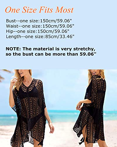 72eed5847fe48 AUDATE Women s V Neck Beach Cover-up Plus Size Bathing Suit Cover-ups Bikini