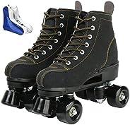 Roller Skates for Women Men High-top Roller Skates Four Wheels Roller Skates Shiny Roller Skates for Girls Boy