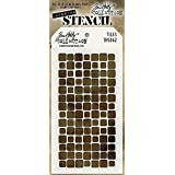 "Stampers Anonymous Tim Holtz Layered Tiles Stencil, 4.125"" x 8.5"""