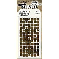 Stampers Anonymous Tim Holtz Layered Azulejos Stencil, 10,5x 21,6cm