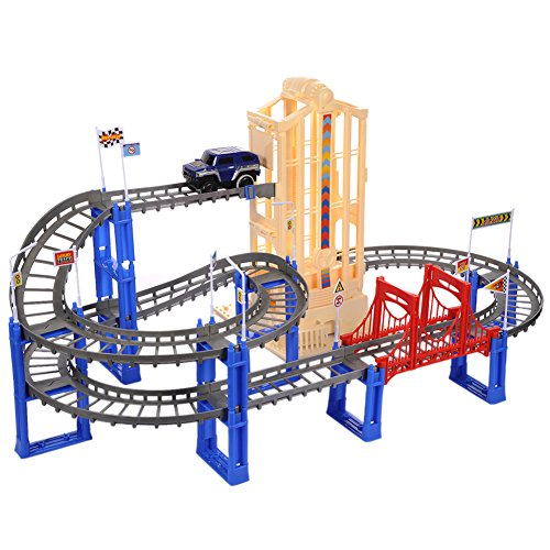 step 2 roller coaster track car toy electric toys building set children remote control play vehicles railway sets emulation model engineering (Model Railroad Control)