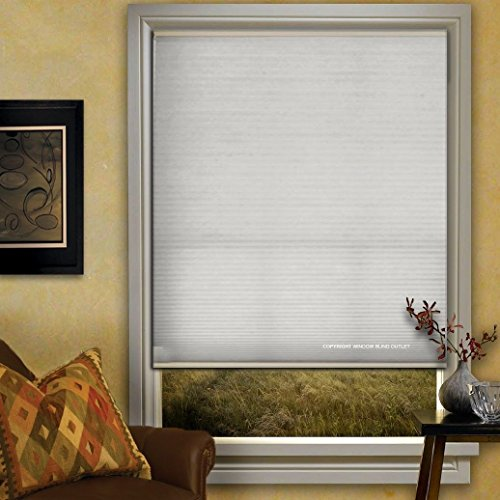 Window Blind Store Light Filtering Cordless Cellular Shade White 27x48