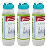 Rubbermaid 3163 Sippin Sport Chugg Bottle 32 Oz, Pack of 3