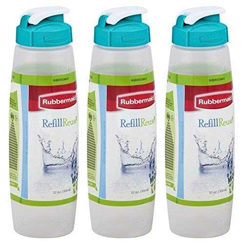 Rubbermaid 3163 Sippin Sport Chugg Bottle 32 Oz, Pack of 3 ()