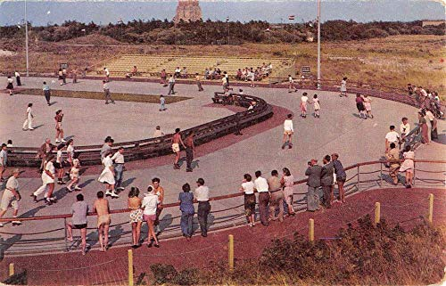 Jones Beach New York Rollerskating Rink Birdseye View Vintage Postcard K432008