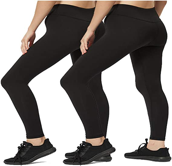 Acexy Yoga Pants for Women High Waist with Pockets Flex Leggings Tummy Control Workout Running Tights