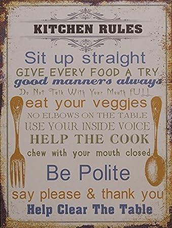 Blechschilder Küche amazon de blechschild dekoschild schild kitchen küche shabby