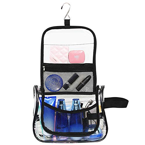Magicbags Hanging Toiletry Bag - Multifunction Waterproof Clear Cosmetic Bag,Travel Makeup Organizer Bag for Men & Women with Sturdy Hook