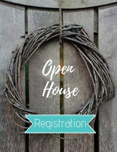 - Open House Registration: Real Estate Agents Guest & Visitors Signatures - Prospects Sign In Registry Book - Wooden Gate Wreath - Property Developers