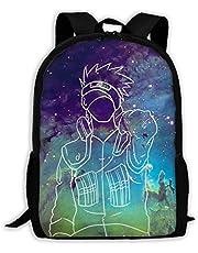 Custom Galaxy Naruto Kakashi Casual Backpack School Bag Travel Daypack Gift