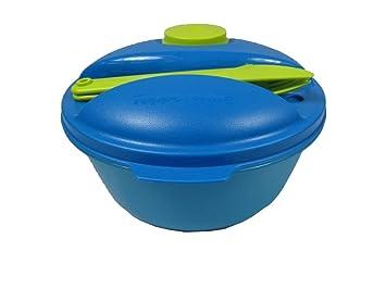 c84525d999 TUPPERWARE Mangiasano 1,5L + Mini Contenitore 60ml + Posate blu verde:  Amazon.it: Casa e cucina