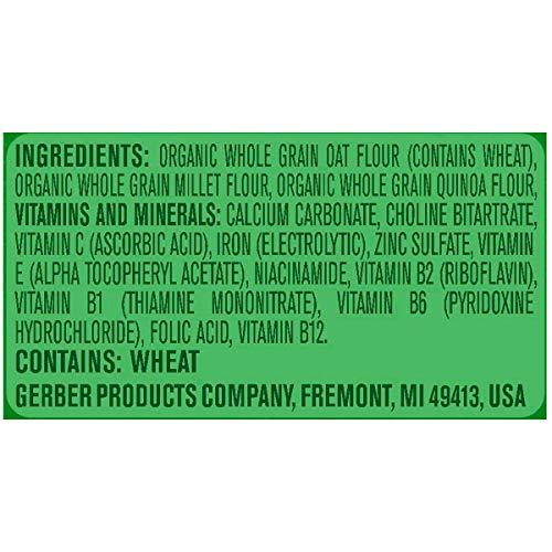 514C99EmlOL - Gerber Baby Cereal Gerber Organic Oatmeal Millet Quinoa Cereal, 8 Ounces (Pack Of 6)