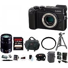 Panasonic DMC-GX8KBODY LUMIX GX8 (DSLM) Camera Body + Panasonic 35-100mm Zoom f/2.8 Lens and 64GB SD Bundle
