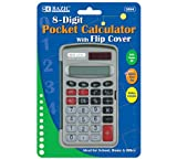 Bazic 8-Digit Pocket Size Calculator with Flip Cover (Case of 144)