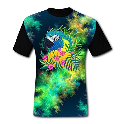 - Mens Fantasy Parrot Art Adult T-Shirt Short Sleeve Tees XL