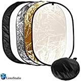 LimoStudio 24x36 Photo Video Studio Multi Collapsible Disc Lighting Reflector 5-in-1, AGG1266
