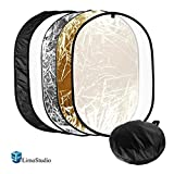 "LimoStudio 24""x36"" Photo Video Studio Multi Collapsible Disc Lighting Reflector 5-in-1, AGG1266"