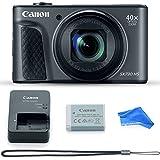 Canon PowerShot SX730 Digital Camera w/40x Optical Zoom & 3 Inch Tilt LCD - Wi-Fi, NFC, & Bluetooth Enabled (Black) & DigitalAndMore Microfiber Digital Camera Cleaning Cloth