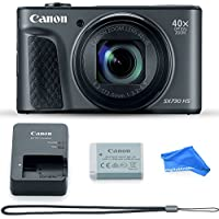 Canon PowerShot SX730 Digital Camera w/40x Optical Zoom & 3 Inch Tilt LCD - Wi-Fi, NFC, & Bluetooth Enabled (Black) & DigitalAndMore Microfiber Digital Camera Cleaning Cloth
