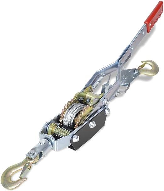 Zuglast 1000 kg UnfadeMemory Seilzug mit zwei Haken Eisen Handseilzug Flaschenzug Handwerkzeug f/ür Boote Industrie oder Autoanh/änger