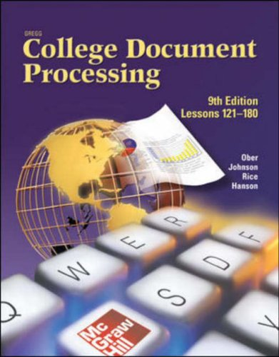 Gregg College Keyboarding & Document Processing (GDP), Lessons 121-180, Student Text