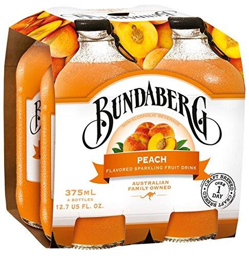 Bundaberg Sparkling Fruit Drink, Peach, 4-pk, 12.7 fl oz
