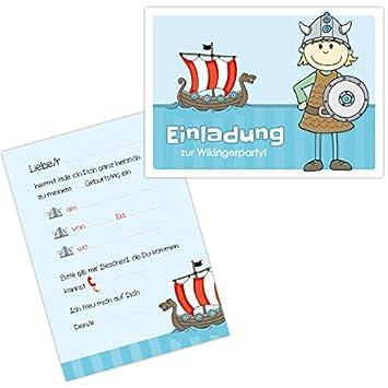 10 Einladungen Zum Kindergeburtstag U0026quot;Ingvar Der Wikingeru0026quot; / Kindergeburtstag  Einladungen ...