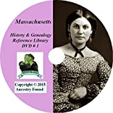 Massachusetts History and Genealogy- 336 Books on DVD Ancestry, Records, Family Tree