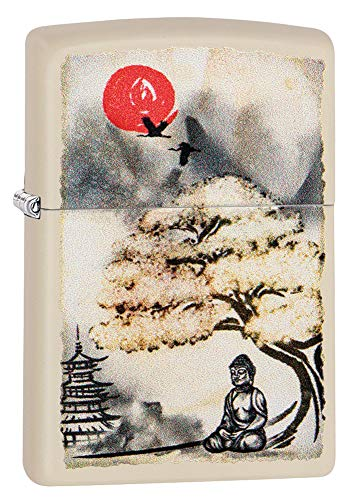 Zippo Pagoda Bonsai Buddha Design Pocket - Design Pagoda