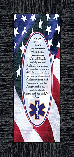 (EMT Prayer, EMT Picture Frame, Gifts for Paramedic, 6x12 7799 (6x12, Charcoal1))
