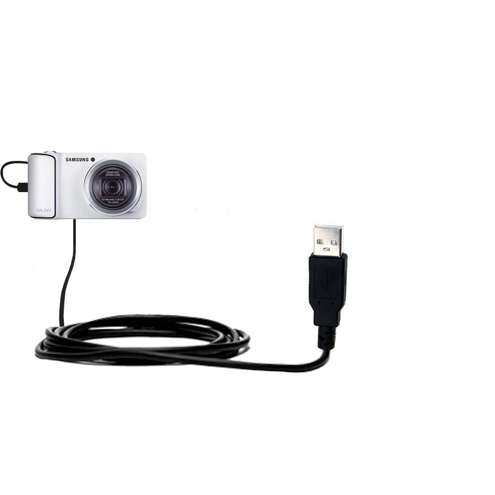Samsung Galaxy Camera compatible Hot Sync and Charge Straight USB cable - Charge and Data Sync with the same cable. Built with Gomadic TipExchange Technology SCS-6437