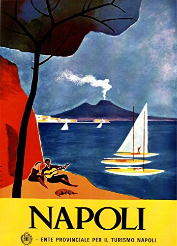 Quality poster in Paper or Canvas.Napoli Italy Travel decora