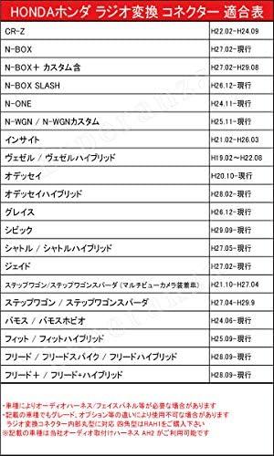 【Esperanza】ホンダ★N-ONE ナビ取り付け ラジオ アンテナ変換ケーブルカプラーからピンジャックへ JG 型 H24.11-H27.07