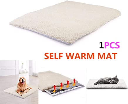 JKABCD Self Heating Thermal Cucciolo di Cane Gatto Animale Domestico Lavabile Letto con Body Heat Reflecting Core Pad Ideale per Inverno Cat//Dog Bed