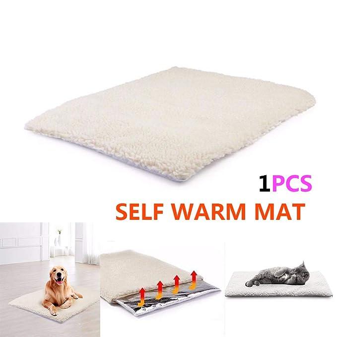 Manta térmica para mascotas con diseño de gato y perro, para gatos, perros y mascotas pequeñas con almohadilla de núcleo reflectante de calor corporal y ...