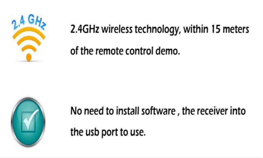ShangSky Laserpointer Pr/äsentation Fernbedienung Pointer f/ür Pr/äsentationen,2.4Ghz Wireless Presenter Rotem Laser f/ür PPT//Keynote//Prezi//OpenOffice//Windows