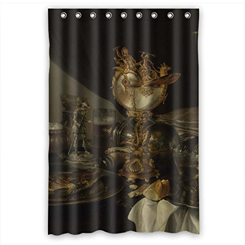 MaSoyy Classic Still Life Art Painting Shower Curtains Polyester Best For Relatives Kids Boys Him Girls. Wipe Clean Width X Height / 48 X 72 Inches / W H 120 By 180 Cm(fabric) ()