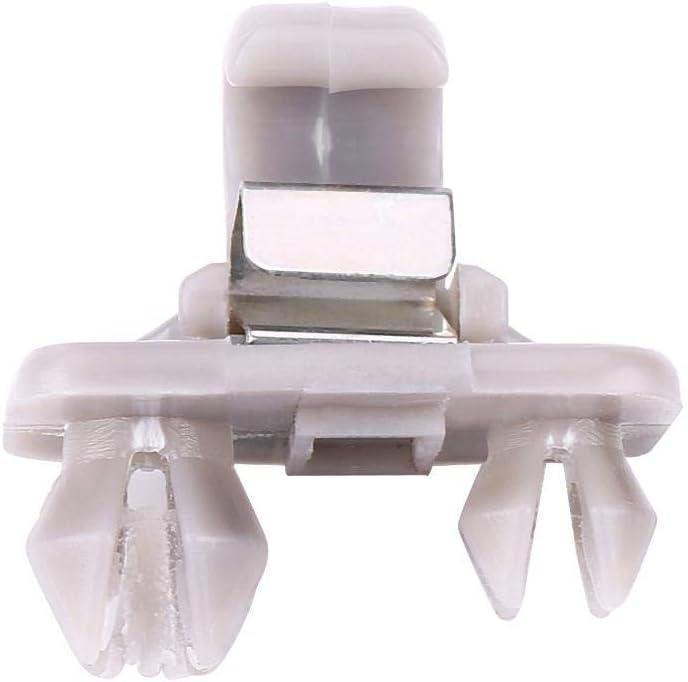 Terisassa Interior Parasole Ancio Clip Agrigio Supporto Rgento Visiera Parasole Interna in Plastica per Auto A1 A3 S3 A4 S4 A5 S5 Q3 Q5