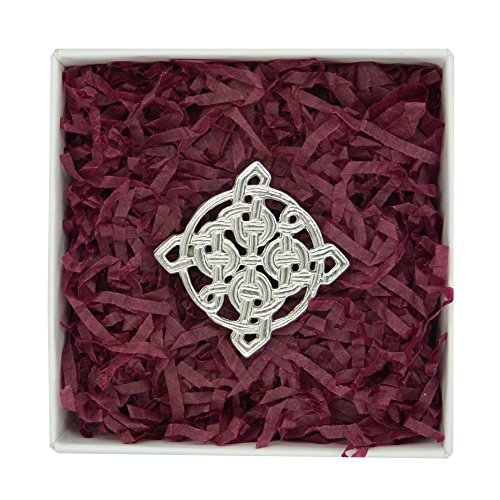 (Fine Pewter Square Celtic Knot)