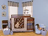 21 Pieces - Rockstar Trend Lab Baby Complete Nursery Ensemble Crib Bedding Set