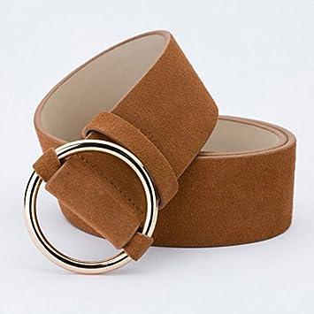 LONFENN Spring-Summer Scrub Gamuzas De Cuero De Gamuza Cinturones para  Mujeres Cintura Sella Cinturones Anchos De Cuero Camello 100Cm  Amazon.es   Deportes y ... fab7457447a6