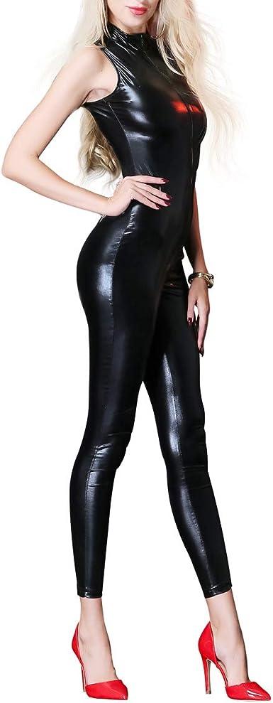 Amazon.com: Mono de cuero para mujer brillante metálico con ...