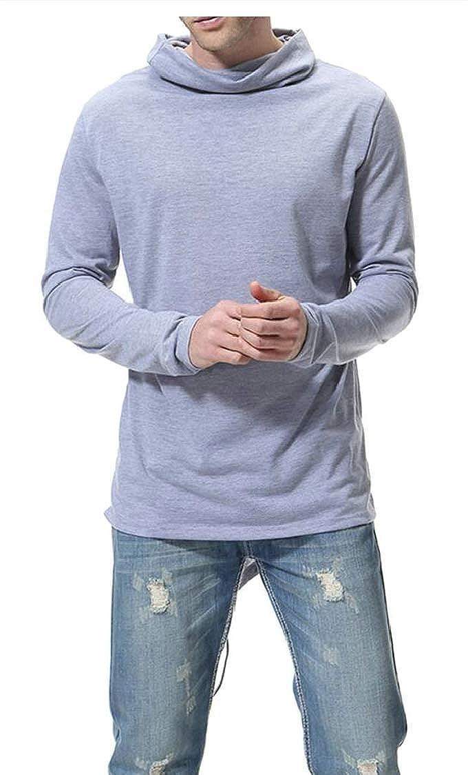 M/&S/&W Mens Autumn Long Sleeve Stretchy Turtleneck T-Shirt Top Sweatshirt Blouse