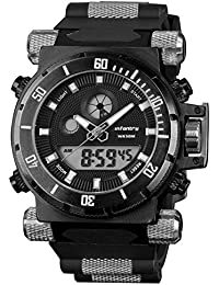 50mm Big Face Mens Military Tactical Watch Large Digital Sport Watches for Men Heavy Duty
