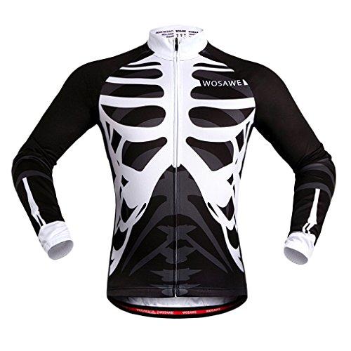 満足させる茎ピークLovoski バイクジャージー サイクリングジャージー 男女兼用 トップ  反射性 ストリップ  防風 全5サイズ