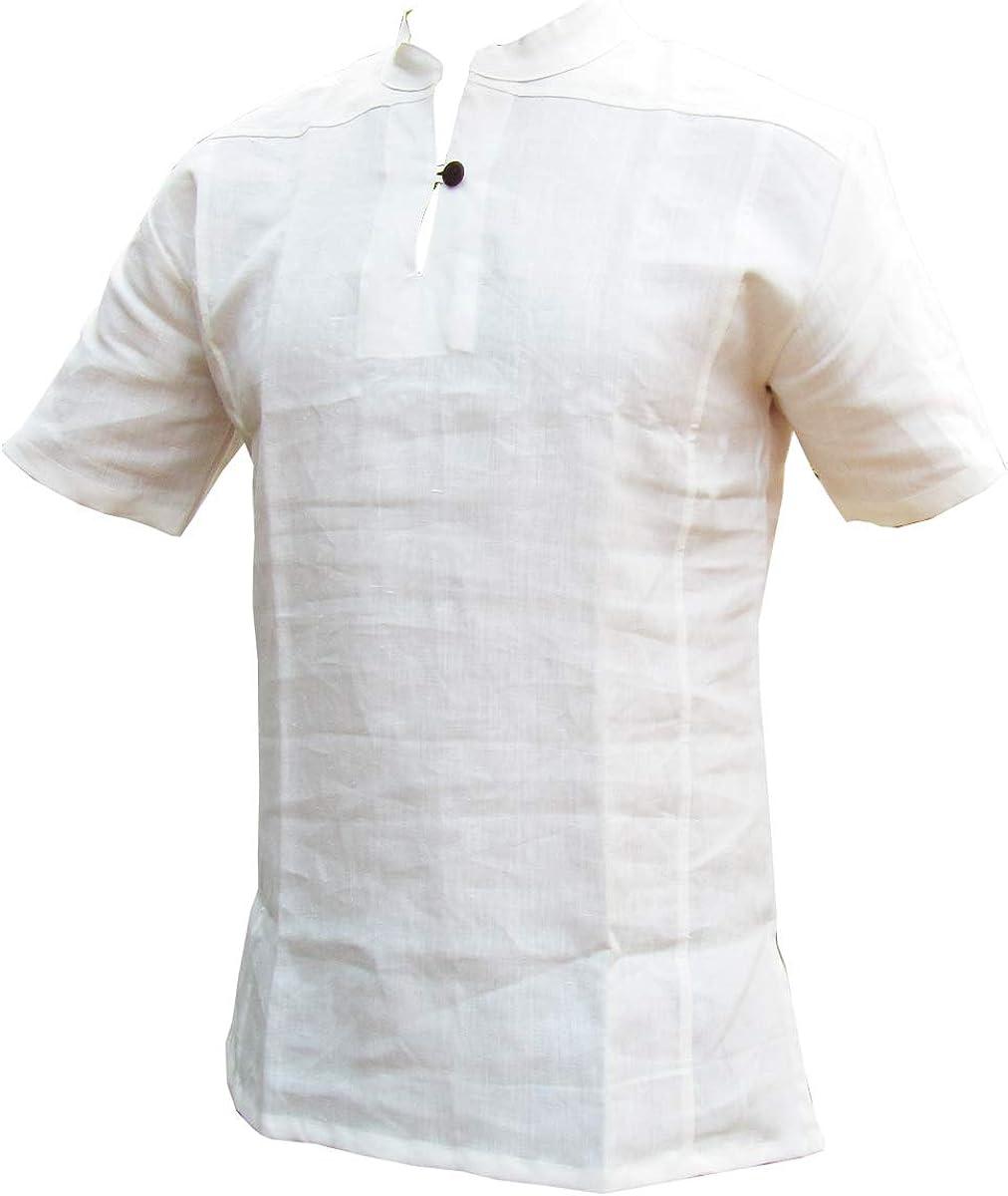 Panasiam - Camisas de cáñamo de pescador, 100% cáñamo natural, en M, L, XL y XXL, primera edición